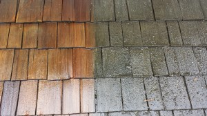 Pressure washing your Cedar Roof will make it look like new!